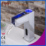 Fyeer Bathroom Waterfall Basin Tap Faucet Sensor Automático com LED (QH0155F)