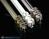 Champagne Curtain Track in Aluminum Profile con Electrophoric Effect