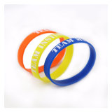 Vente en gros Pesonalizd Fashion Multicolored Promotionnel Durable Silicone Bracelet
