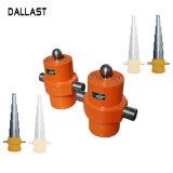 Só agindo com vários estágios do cilindro do óleo hidráulico telescópico para o site dumpers
