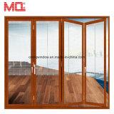 Het Glas van de Deur van het Aluminium van het balkon neemt Zonneblinden op die Glas glijden dat Deur vouwt