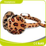 O sustento estereofónico do luxuoso morno protege a orelha no auscultadores confortável do inverno