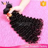 Onda profunda /Wet Curly do cabelo brasileiro não processado do Virgin e Weave brasileiro ondulado do cabelo humano