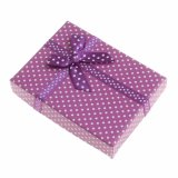 Nueva moda Caja de papel 1PC mancha de color blanco de las pequeñas cajas de regalo para joyería Joyería baratos regalo Caja de embalaje para collar