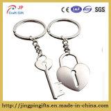 Pares dominantes en forma de corazón Keychain del metal del aire de Galaxia con el rectángulo de regalo para los hombres y las mujeres