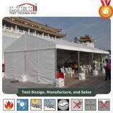 100人容量の結婚披露宴か教会に使用する玄関ひさし6mx12mのテント