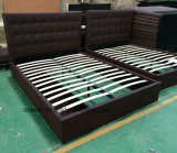 Ткань платформы двуспальную кровать спальня мебель без выдвижного ящика (ПР)17171