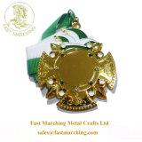 カスタム良質の円形浮彫りは金によってめっきされるブランクメダルのあたりで形成する