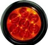 """LED 4"""" 둥근 정지 회전 테일 빛 Tl04"""