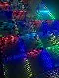3D Mirroe 심연 댄스 플로워 도와 위원회 LED