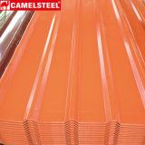 Placa de material para techos galvanizada del hierro/hoja acanalada galvanizada sumergida caliente del material para techos