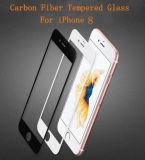 Ausgeglichenes Glas-Bildschirm-Schoner-Kohlenstoff-Faser für das iPhone 8 ultra Hochviskositäts