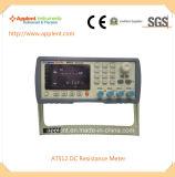 高精度のマイクロ電気抵抗計0.1microのオーム110mのオームの範囲(AT512)