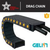 Cadeia de cabo CNC de alta velocidade de plástico flexível do tubo eléctrico tipo ponte de fio de cabo rastreia as correntes de arrasto