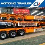 Aotong 2 Semi Aanhangwagen van het Skelet van de Container van de Haven van de As 40FT de Eind