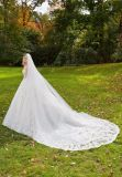 vestido de casamento nupcial frisado do baile de finalistas da noite de Ballgown da flor 3D (8128)
