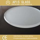 China Custom 6mm 8mm 10mm 12mm redondo el borde biselado Pulido Templado de Vidrio de la mesa