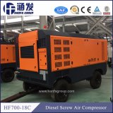 Hf700-18C portátil Diesel 18bar secador do compressor de ar de parafuso