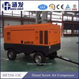 15m3/min 13 Bar 132kw Compressor de ar de parafuso móvel Diesel na China (IC550-13C)