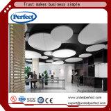 Panneaux de plafond acoustiques de salle de tissu commercial de fibre de verre