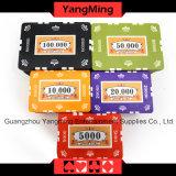 760PCS 12g Aufkleber-stellten reine Lehm-Schürhaken-Chips für spielendes Spiel mit Aluminiumfall mit Zahl und UVfirmenzeichen ein (YM-SGHG003)