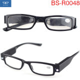 Moda unissexo leitores convenientes óculos óculos de leitura com luz de LED