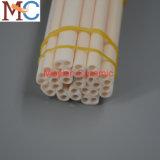 Dos orificios del tubo de cerámica de alúmina Oval