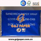 Papier d'emballage de vente de graisse de clinquant résistant chaud d'hamburger