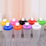 Popular sin BPA 400ml botella de plástico de agitar con agitador BOLA DE ACERO