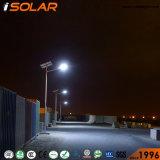 Último diseño 90W 8m de panel solar de la luz de estacionamiento