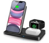 Draadloze oplader, 3 in 1 Qi-gecertificeerd Fast Wireless Charging Station voor Airpods/Apple Watch Series/ iPhone 12/11/11 PRO/11 PRO Max/XS/XS Max/xr/8/8 Plus/SE,