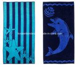 OEMはデザインプリント綿のMicrofiberのプールの浴室浜毛布タオルの製造業者をカスタマイズした