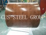 L'inchiostro di legno di colore del grano ha stampato lo strato di disegno/la bobina d'acciaio reticolo di legno