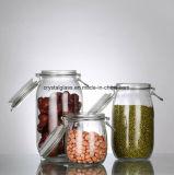 Venda por grosso de vidro transparente misturador para armazenamento de alimentos com fivela