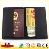Venta caliente viaje piel genuina y titular del pasaporte del titular de tarjeta de crédito