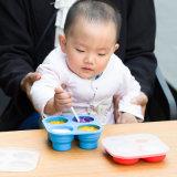 2018 neue Entwurfs-Nahrungsmittelgrad-Silikon-Säuglingsnahrung-Behälter mit Speicherung