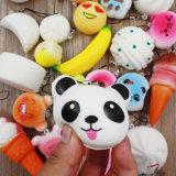 OEM Squishy mignon nourriture jouet Mini Soft Squishy strap pour téléphone simulation aléatoire Moyennes Panda Macaron dessert gâteau Squishy vous détendreToy