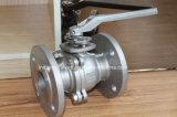 ANSI flotante de acero inoxidable de 150lb 2PC Válvula de bola con brida