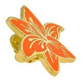 工場直売のカスタム金属の美しい花の折りえりPin