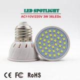 Der Qualitäts-36LEDs E27 E14 M16 GU10 LED Scheinwerfer-kaltes Weiß Cup-der Lampen-3W LED