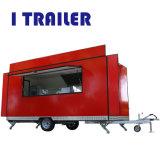 Quiosque de comida de Venda Directa caixa móvel carrinho de reboque para Burger, Café Business