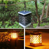 Hogar Decoración de interiores Jardín Colgante Solar Linterna Luz llama