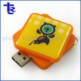 Square de la résine Lecteur de mémoire flash USB comme cadeau promotionnel de l'entreprise