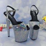 Leecabe Sexy Party свадьбы пятки корейском стиле Peep Toe женщин высокие каблуки обуви платформа Stiletto полюс Dance зерноочистки