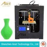 Anet 휴대용 3D 인쇄 기계 장비 케이크 모형 0.04mm 정밀도를 위한 탁상용 3D 인쇄 기계 아BS 필라멘트