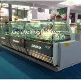 Congelador quente do indicador de Gelato da venda para o gelado