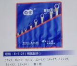 8PCS 6-24 Geplaatste Moersleutels van de Pruim van de Hulpmiddelen van de Hand Metrische