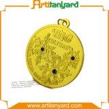 方法リボンが付いているカスタマイズされた金メダル