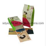 Größe kundenspezifische seitliche Stützblech-Packpapier-Plastiktasche für Nahrung