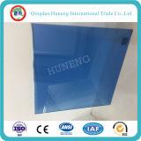 vidrio de flotador teñido color azul marino de 6m m